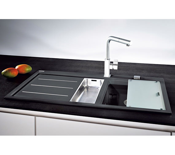 Image 9 of Franke Mythos Fusion Designer Pack MTF 651-100 Fragranite Onyx Sink And Tap