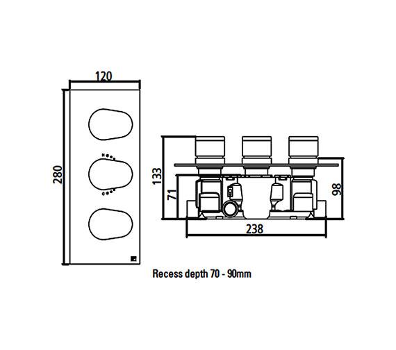 Technical drawing QS-V22400 / SV7705