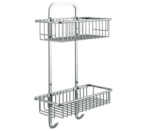 Vado Large Rectangular Double Basket - BAS-2003