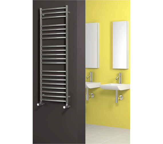 Alternate image of Reina Eos Curved Designer Radiator 600 x 1200mm Polished - RNS-ES6120