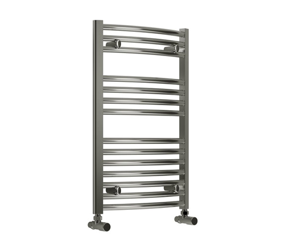 Reina Diva 450 x 800mm Chrome Curved Towel Rail - More Height Sizes Available