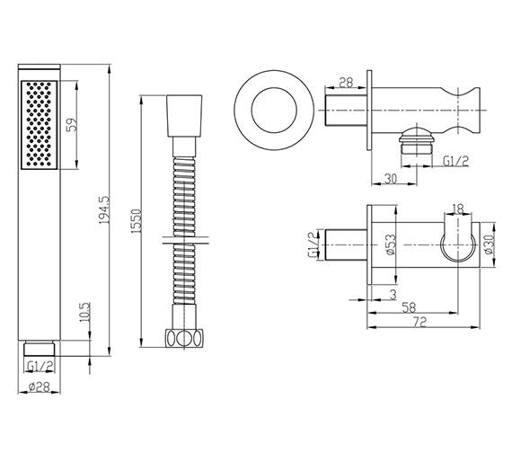 Technical drawing QS-V22698 / SK963C
