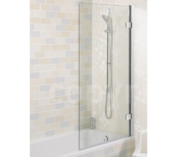 Simpsons Elite Frame-less Hinged Bath Screen 900mm - LBSSC0900