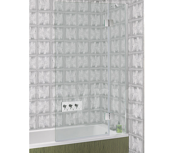 Simpsons Ten Frame-less Hinged Bath Screen 900mm - TBDSC0900