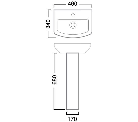 Technical drawing QS-V22769 / SB745S