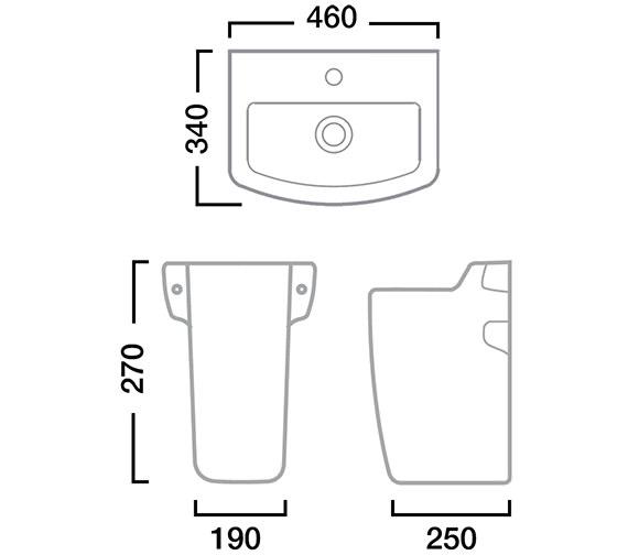 Technical drawing QS-V22770 / SB745S