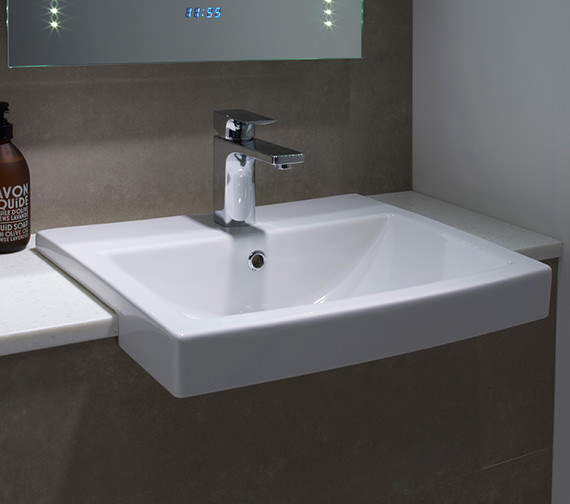 Tavistock Vibe Semi Counter Top Basin 550mm - SCSB700S