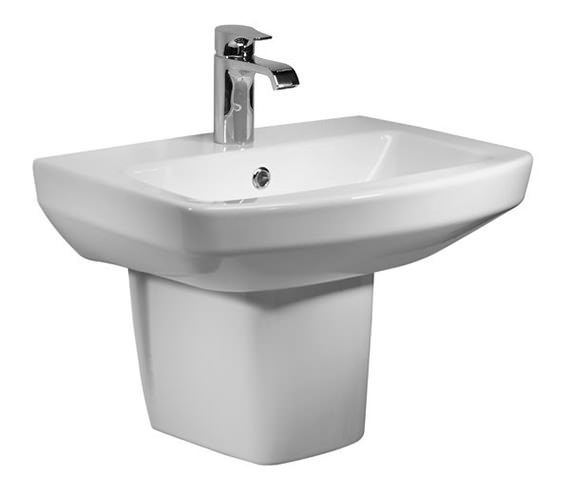 Tavistock Vibe 1 TH Ceramic Basin 550mm With Semi Pedestal - SB700S