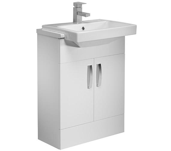 Tavistock Courier 600mm Semi Countertop Vanity Unit - Gloss White