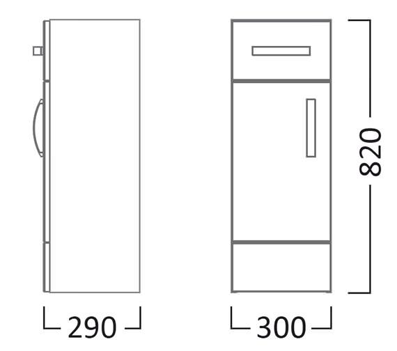 Technical drawing QS-V22801 / CR30FCW
