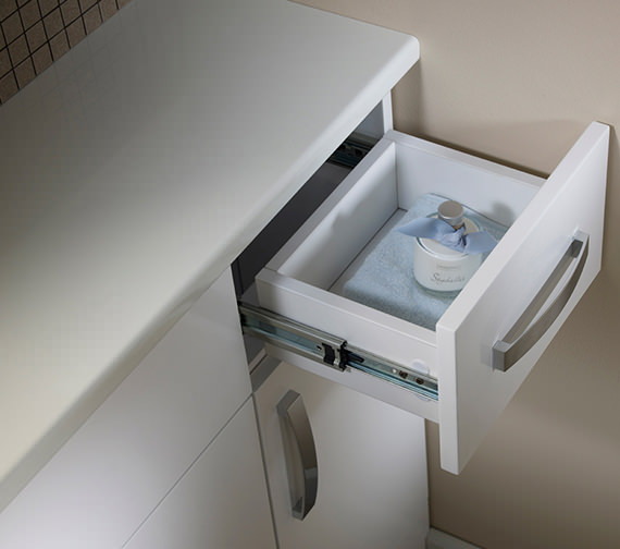 Additional image of Tavistock Courier 300mm White Gloss Floor Cupboard - CR30FCW