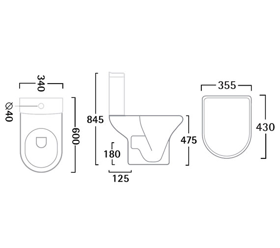 Technical drawing QS-V22813 / PC100S