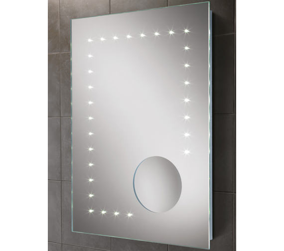 HIB Messina Portrait LED Mirror With Integrated Magnifying Mirror