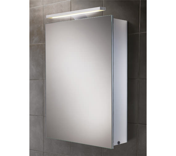 hib orbital steam free led illuminated aluminium mirrored 20673