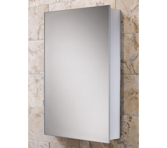 HIB Callisto Slim Line Aluminium Mirrored Cabinet 500 x 700mm