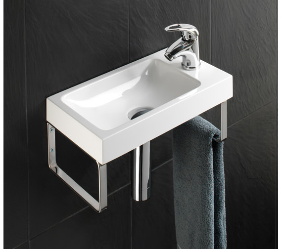 HIB Solo Delta Wall Hung Washbasin 400 x 220mm - 8860