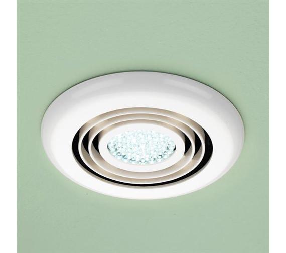 Hib Turbo Bathroom Inline Illuminated White Extractor Fan