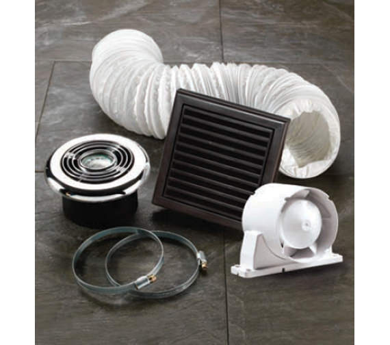 Additional image of HIB Turbo Bathroom Inline Illuminated White Extractor Fan