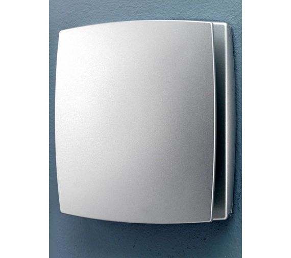 HIB Breeze Wall Mounted Matt Silver Fan With Timer And Humidity Sensor