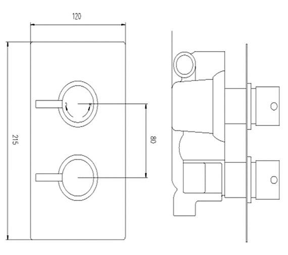 Technical drawing QS-V23129 / QUEV52