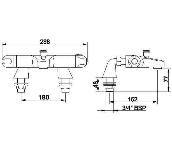 Technical drawing QS-V23156 / CD324