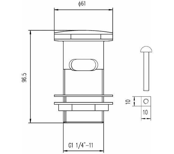Technical drawing QS-V23181 / EK303