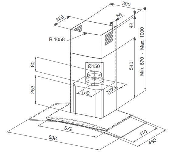 Technical drawing QS-V23294 / 1100029822