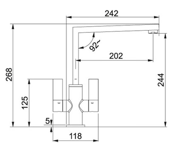 Technical drawing QS-V23324 / 115.0153.231
