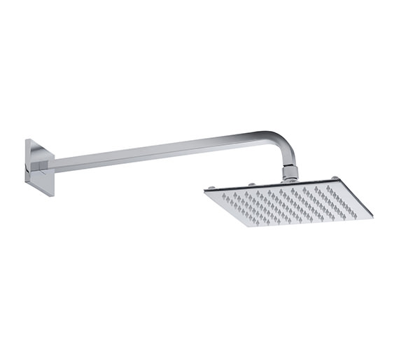 Roper Rhodes Square Fixed Arm With Square 200mm Shower Head