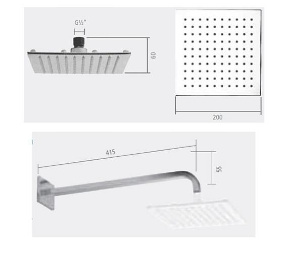 Technical drawing QS-V23380 / SVARM05