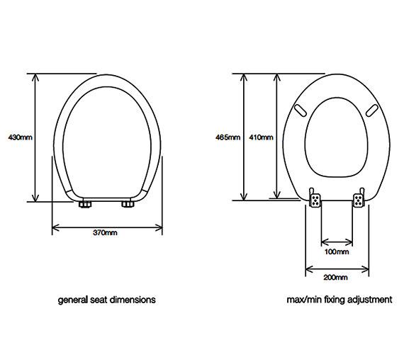 Technical drawing QS-V23408 / 8081HOSC