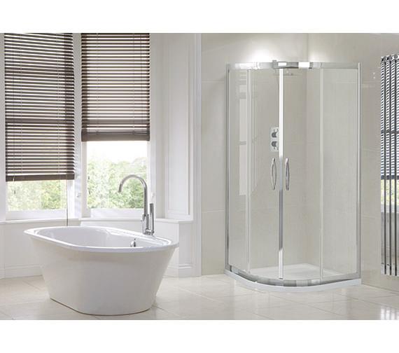 Alternate image of Aquadart Venturi 8 Double Door 1900mm High Offset Shower Quadrant