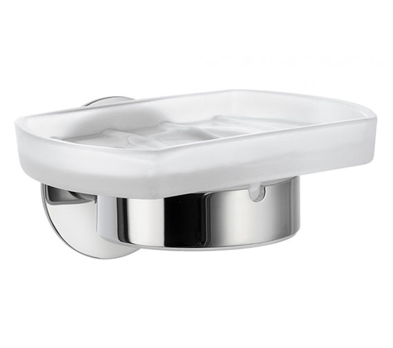 Smedbo Time Frosted Glass Soap Dish With Holder