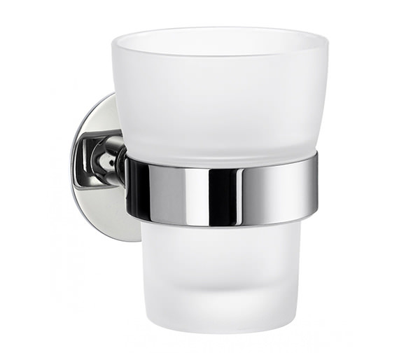 Smedbo Time Frosted Glass Tumbler With Holder