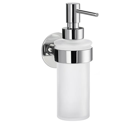 Smedbo Time Frosted Glass Soap Dispenser With Holder