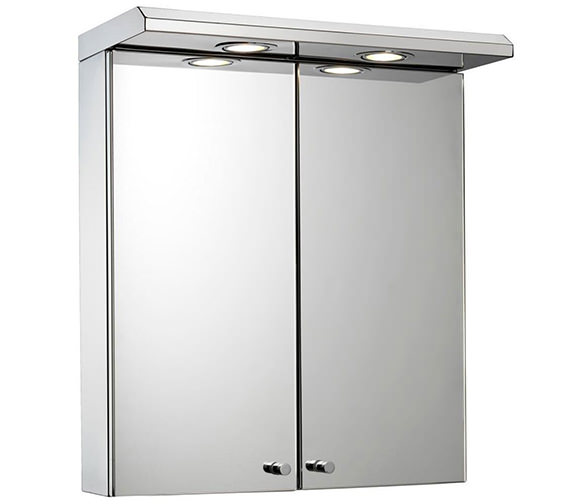 Kitchen cabinets 500mm depth - Croydex Shire Double Door Illuminated Cabinet With Shaver