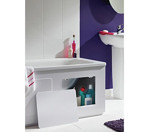 Croydex Storage Bath Panel Gloss White - WB715122