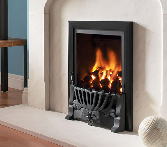 Flavel Kenilworth Traditional Power Flue Gas Fire Black - FVPC26MN