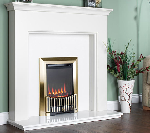 Flavel Orchestra Balanced Flue Gas Fire No Chimney Brass - FBFN76G