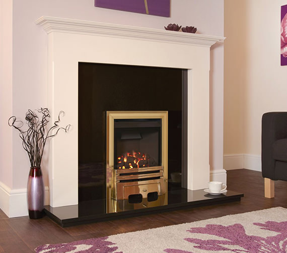 Flavel Calibre Balanced Flue Gas Fire Manual Control Brass - FBFC1SMN2