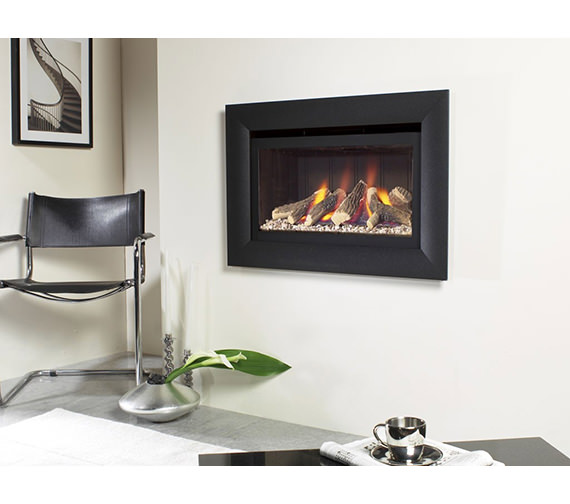 Flavel Jazz Balanced Flue Gas Fire No Chimney Black - FJBL02RN