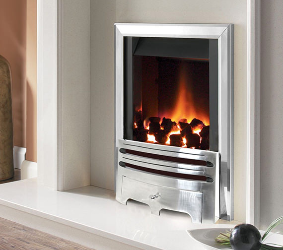 Flavel Warwick Power Flue Gas Fire No Chimney Inset Silver - FVNC37MN