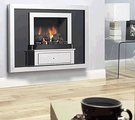Flavel Vesta Hole In The Wall Gas Fire Stainless Steel-Coal - FVTC00MN
