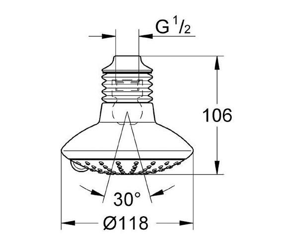 Technical drawing QS-V24052 / 27237000