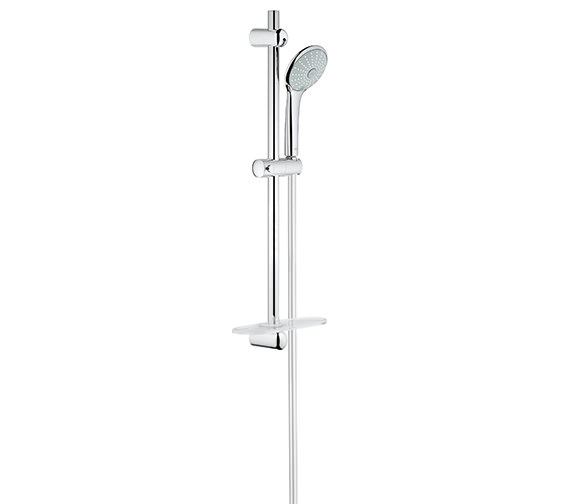 grohe euphoria massage shower set with 600mm rail 27231001. Black Bedroom Furniture Sets. Home Design Ideas