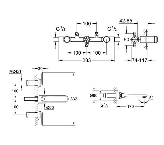 Technical drawing QS-V24070 / 20181000
