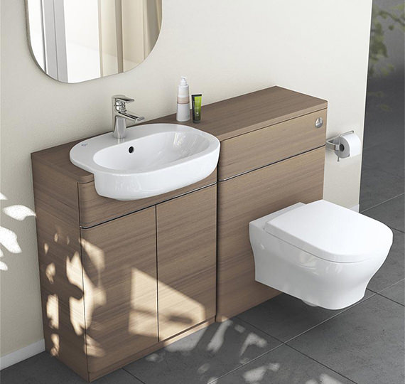 Additional image of Ideal Standard Softmood Semi-Countertop Basin Unit White -T7818WG