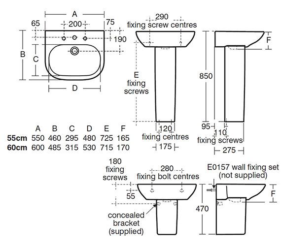 Technical drawing QS-V24109 / T055401