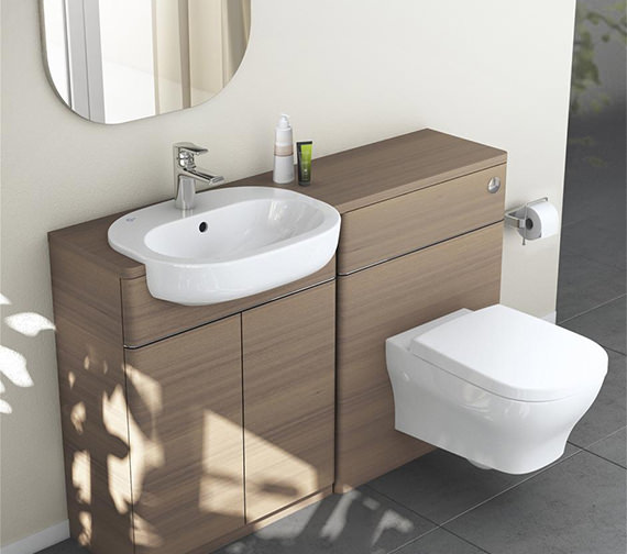 Additional image of Ideal Standard SoftMood 55cm Semi Countertop Basin - T055301