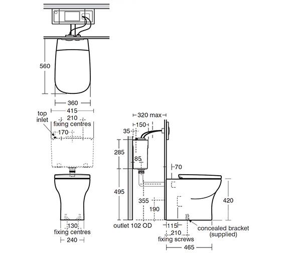Technical drawing QS-V24119 / T321601